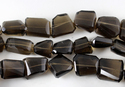 Smoky Quartz Unshaped Faceted Nugget Beads