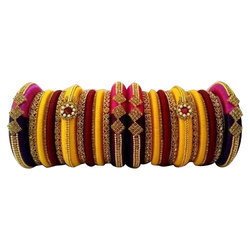 Multi Colour Silk Thread Bangles