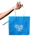 Jute Bag With Zipper Top & Handle