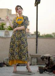 Mustard A Line Dress