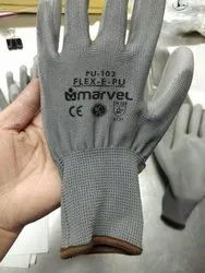 Grey Rifa Pu Coated Hand Gloves, For Industrial, Size: Large