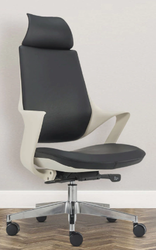 Black And White High Back Boss Chair (Imported))