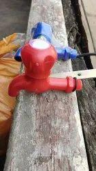 Round Handle Blue PVC METALIC WATER TAP