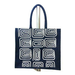 Lunch Fancy Printed Jute Bag, Capacity: 2 Kg