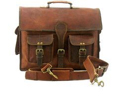 Leather Briefcase, Messenger Bag, Laptop Bag, Shoulder Bag,  Office Bag, Executive Bag, Vintage Bag