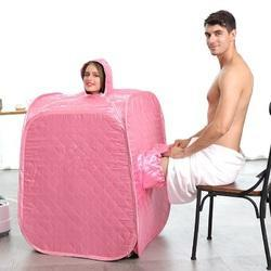 Kawachi Steam Sauna Cube Steam foot Relax Slimming Improves Blood Circulation Cabin - Pink