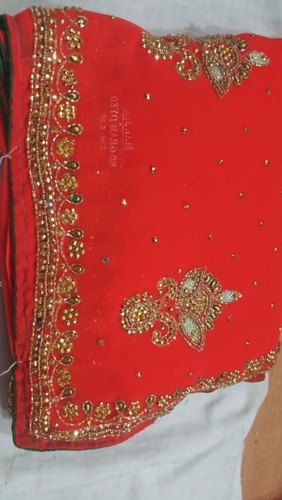 Embroidery Work Georgette Handwork Sarees