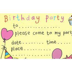 Birthday Invitation Management Services