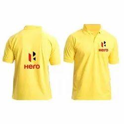 Yellow(base) Printed Corporate T-Shirt