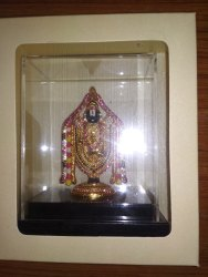 Lord Balaji 100 mm Gold Plated Stone Studded