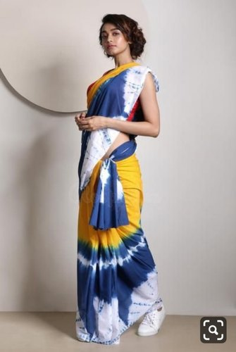 c6e0e0134644b4 Karma Fresh Looks Silk Japan Satin Saree, Length: 6.3 m (With Blouse Piece