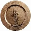 13 Inch Hammered Rim Copper Charger Plate