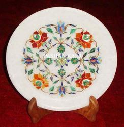 Pietra Dura Marble Plate