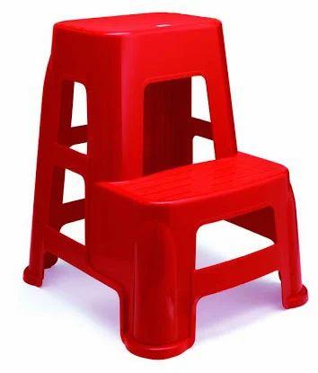 Neell Red Plastic Kitchen Step Stool Warranty 1 Year