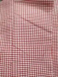 Red Check Uniform Fabric