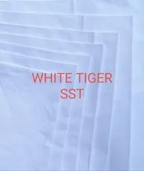 Plain Cotton White Shirting Fabric, For Dress, GSM: 100-150 GSM
