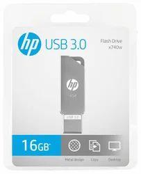 Metal Silver HP x740w USB 3.0 Metal Pendrive