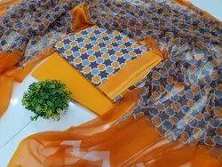 Bagru Hand Print Cotton Suit  Set