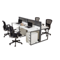 Plywood, Wood Rectangular Wipro Virtu Open Office Furniture System