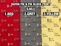 Rayon Pik N Pik Block Printed Fabric