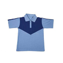 Sky Blue Cotton Kids Plain School T Shirt