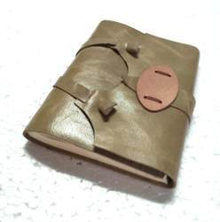 Genuine Leather Handmade Journal with Buckle Closer