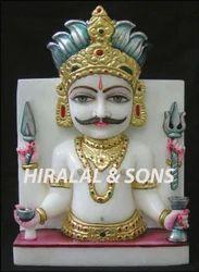 Nakoda Bhairav White Marble Statue