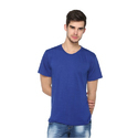 Latest Solid Mens Blue T-Shirt
