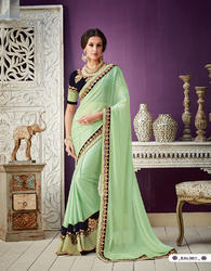 Heavy Embroidered Party Wear Saree