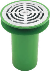 Green CI Hopper Drain With Flat Grate