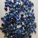 Faceted Blue Sapphire Gemstone