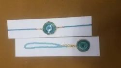 Round Agate Fancy Rakhi
