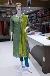 Cotton Casual Wear Churidar Suit