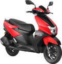 Red Tvs Ntorq 125 Scooter