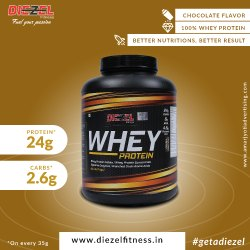 Concentrate Chocolate DIEZEL WHEY PROTEIN, Packaging Size: 2 Kg, Packaging Type: Plastic Container