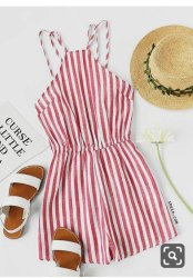 Kids Cotton Dyed Stripe Jumpsuit