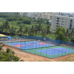 DecoTurf and SSP Acrylic Synthetic Tennis Court Flooring Service