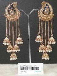 Traditional 5 Jhumka Earrings