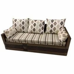 Goodluck Modern Wooden Sofa Cum Bed with Storage, For Homes, Hotels, Offices