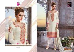Georgette Designer Churidar Suit