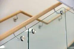 Tempered Glass Frame Less Railing
