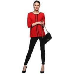 Women''s Solid Crepe Top