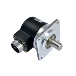 Spindle Encoder GHSF58 9mm Shaft Optical Rotary Position Encoder With Square Flange 10-5400ppr