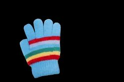 Sky Blue Wool Hand Gloves