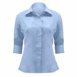 Cotton Plain Ladies Formal Shirt
