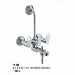 Cordley Brass 3 in 1 Telephonic Wall Mixer With Bend