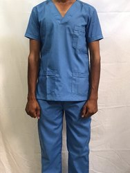 Blue Cotton Scrub Suit