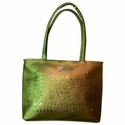 Ladies Golden Color Fashion Shoulder Leather Bag