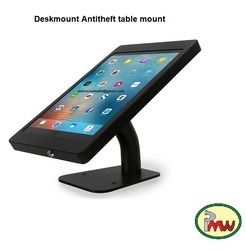 Desktop Anti Tamper Theft Lockable Stand POS Ipad Air, Air2 Tablet Kiosk Enclosure Lock & Key Secure