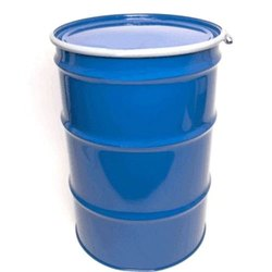 Blue Mild Steel Grease Storage Open Top Barrel, Capacity: 210 Litre